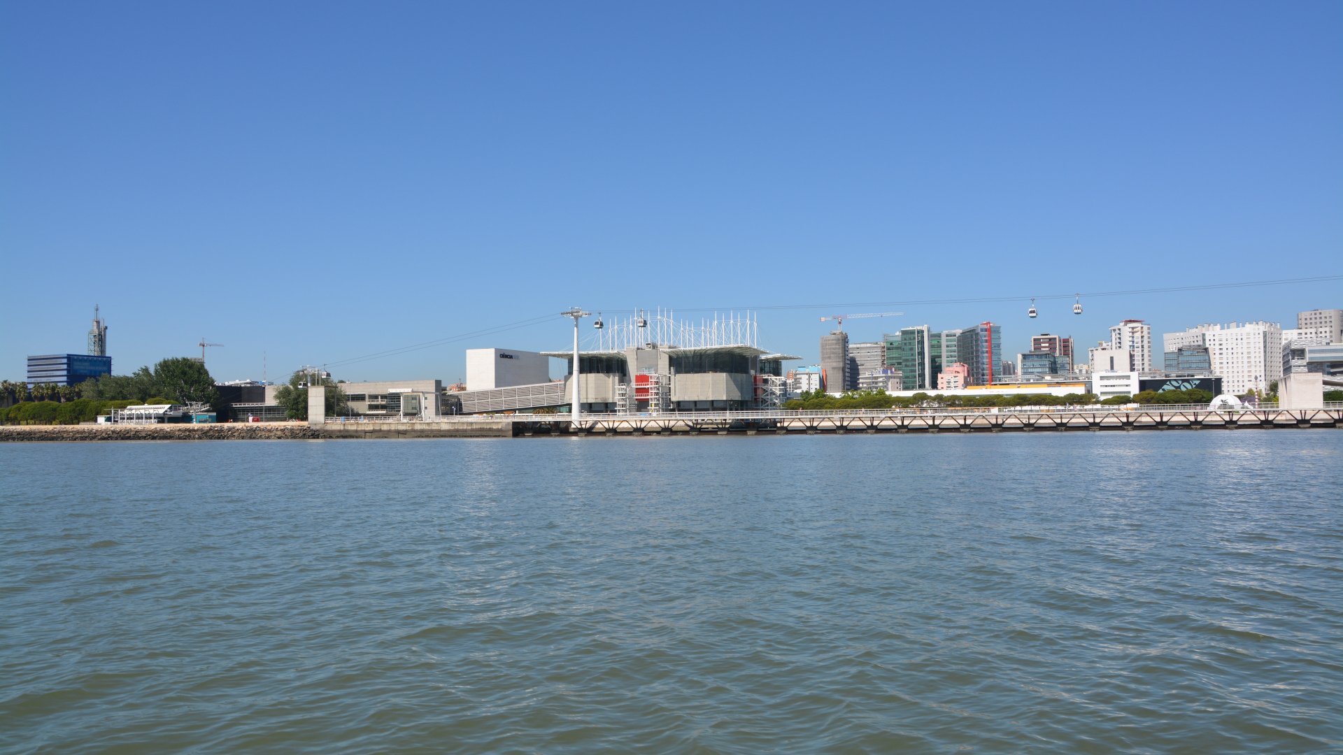 Lisbon Oceanarium seen from Tagus Estuary